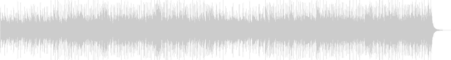 軽快なポップピアノBGMの未再生の波形