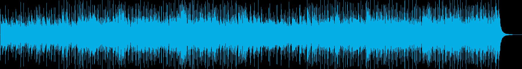 軽快なポップピアノBGMの再生済みの波形