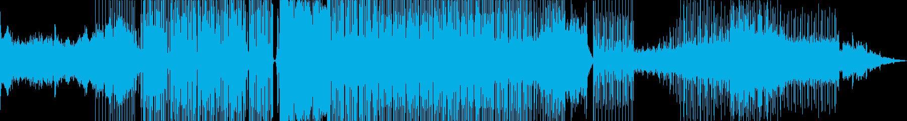 疾走感のあるシンセBGMの再生済みの波形