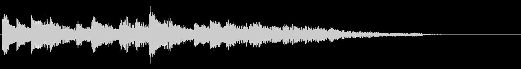 フレッシュな雰囲気のピアノソロジングルの未再生の波形