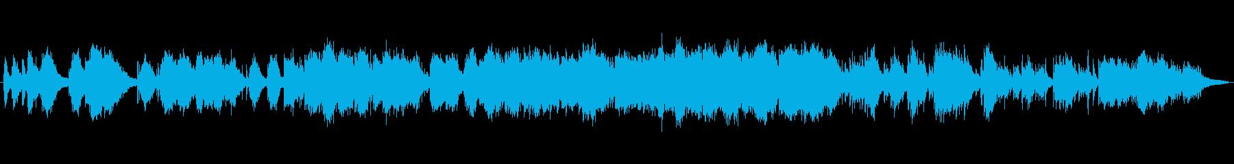 物悲しい静かなピアノの再生済みの波形