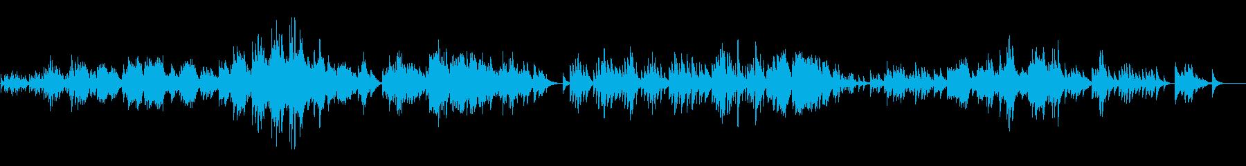 幻想的、ハープソロ『夢』の再生済みの波形
