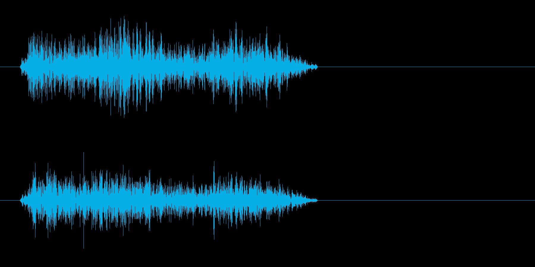 シャー(もしくはチュイン)短い音の再生済みの波形