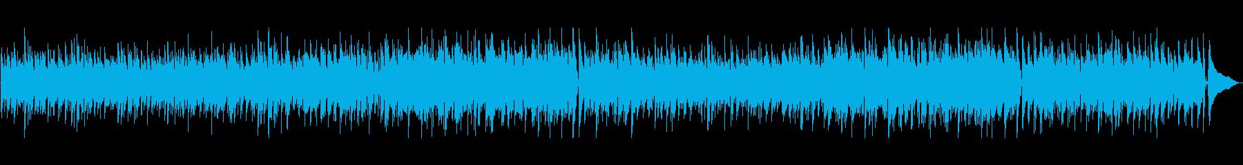 ピアノの旋律が印象的なボサノバの再生済みの波形