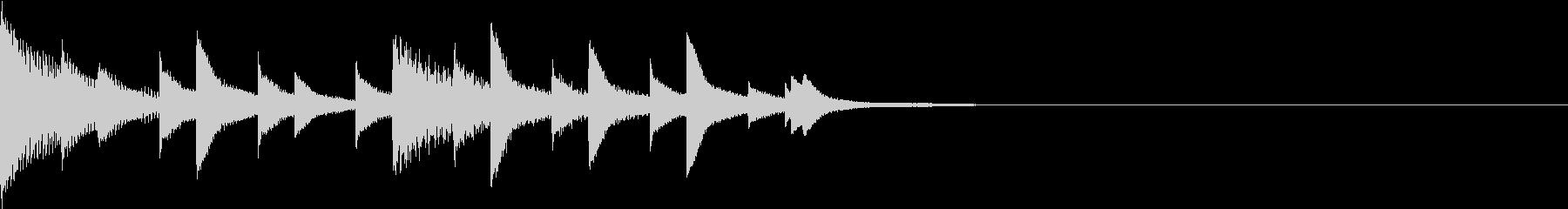 かわいいオルゴールのジングルの未再生の波形