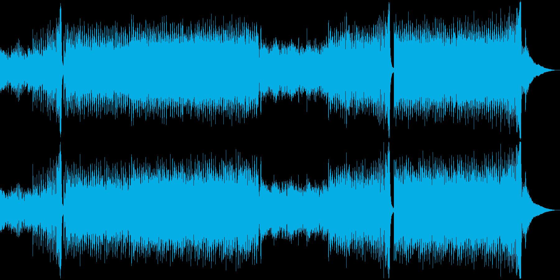 夏、海、朝、カッティングトロピカルハウスの再生済みの波形