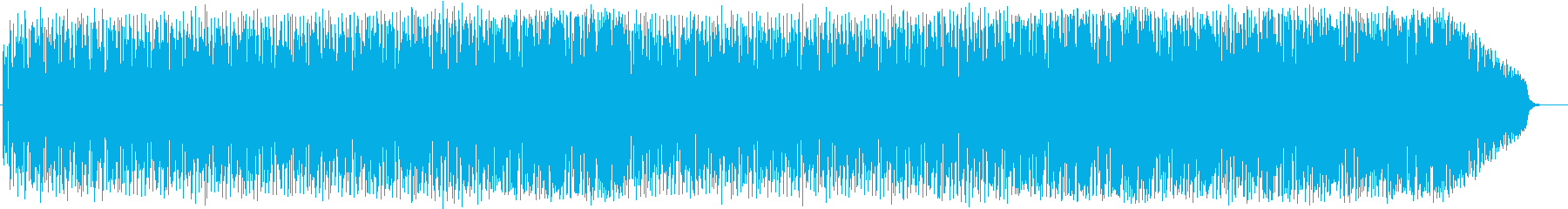 シリアスな雰囲気のハードロックの再生済みの波形