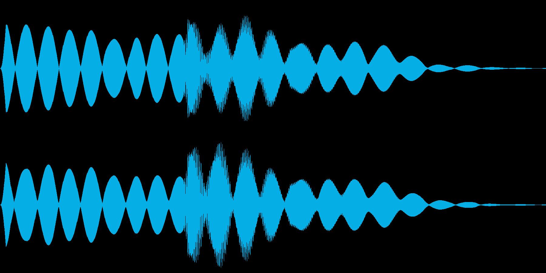 救急車のサイレンの再生済みの波形