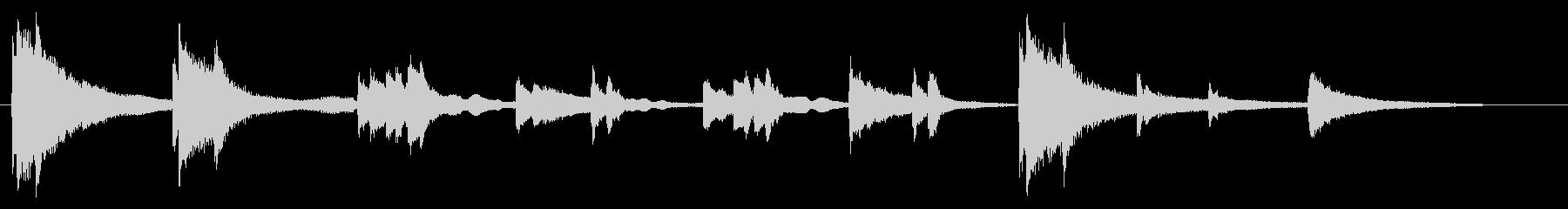 絶望のピアノソロ曲の未再生の波形