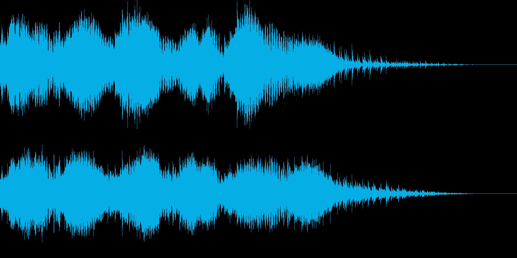 穏やかな空気が流れるミニマルアンビエントの再生済みの波形