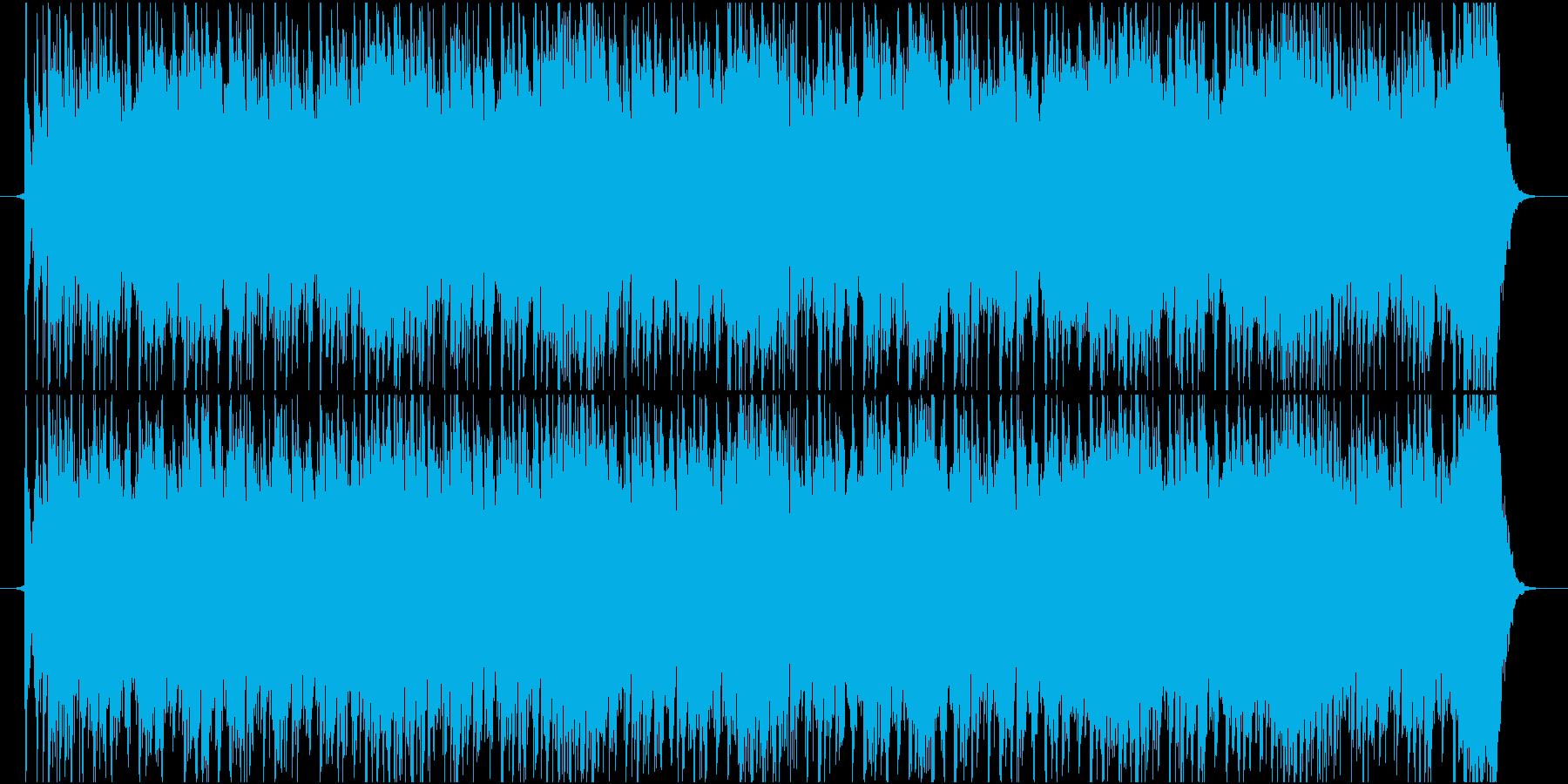 EDMバックグランドミュージックの再生済みの波形