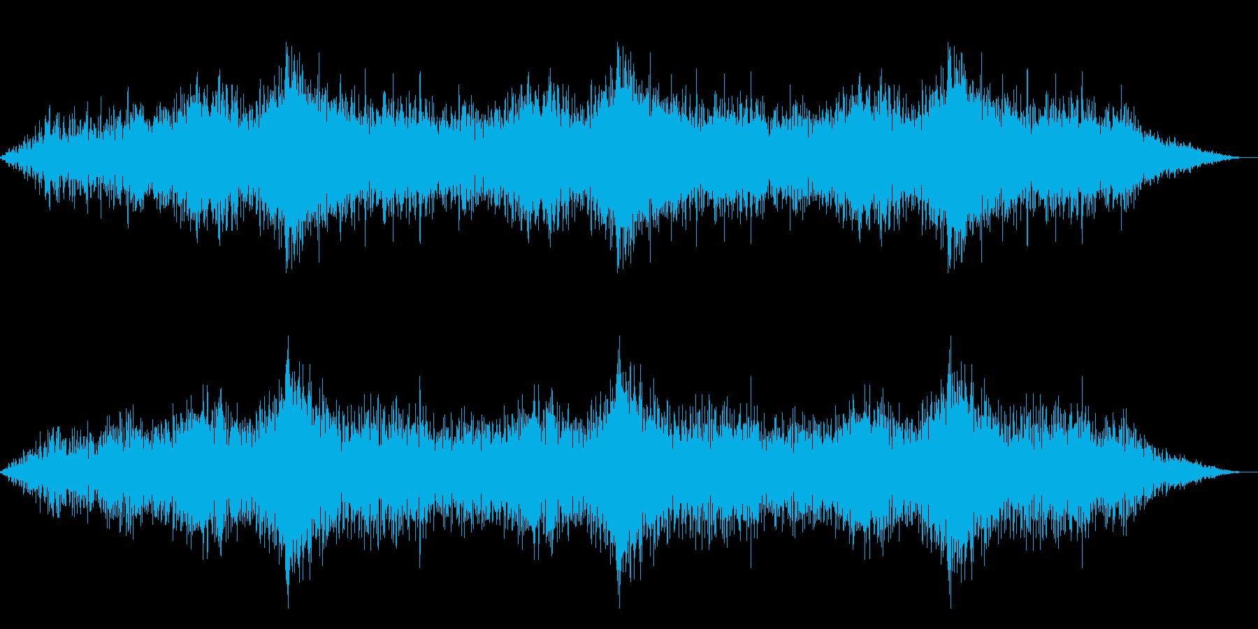 ホラー映画に出てきそうなノイズ系音源12の再生済みの波形