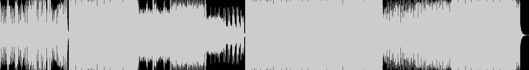 シンセリードが響くトランスの未再生の波形