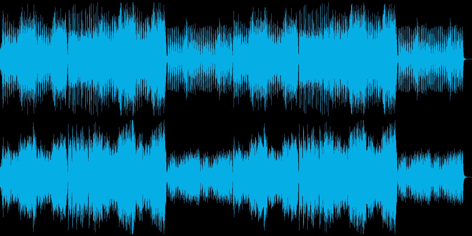 RPGの町をイメージしたオーケストラの再生済みの波形