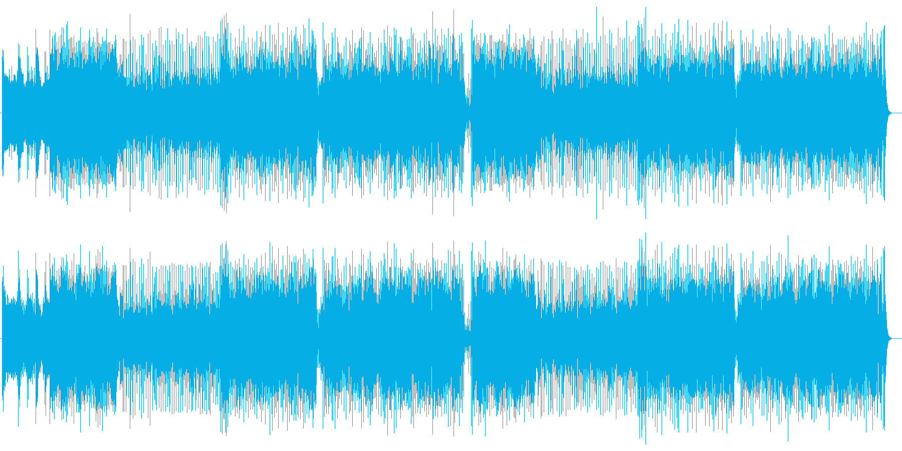 不協和音が楽しいエレクトリックサウンドの再生済みの波形