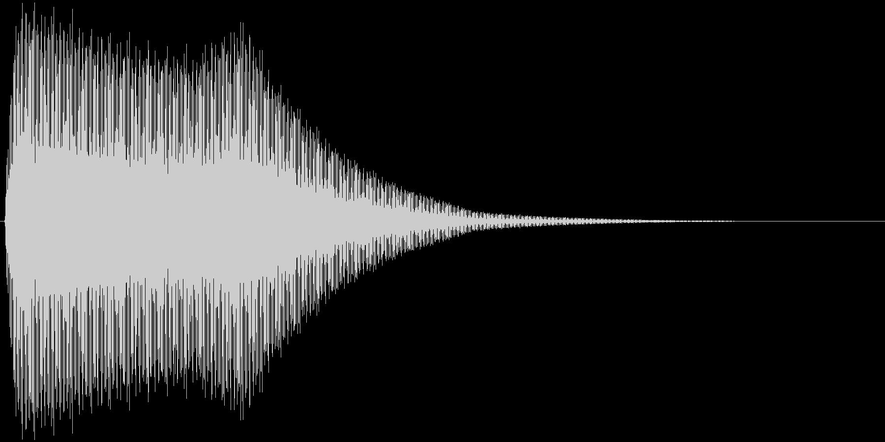 ビビビビビビビビビの未再生の波形