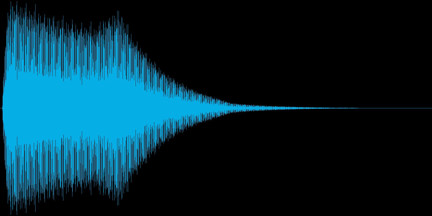 ビビビビビビビビビの再生済みの波形