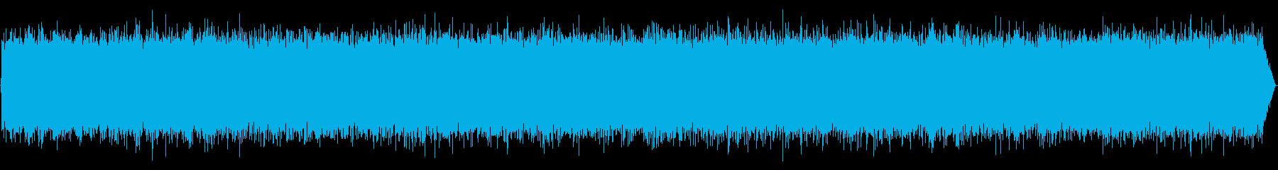 雨の音01の再生済みの波形