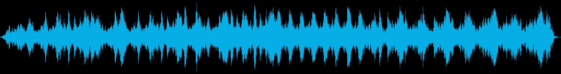 壮大でスローな柔らかいヒーリングな曲の再生済みの波形