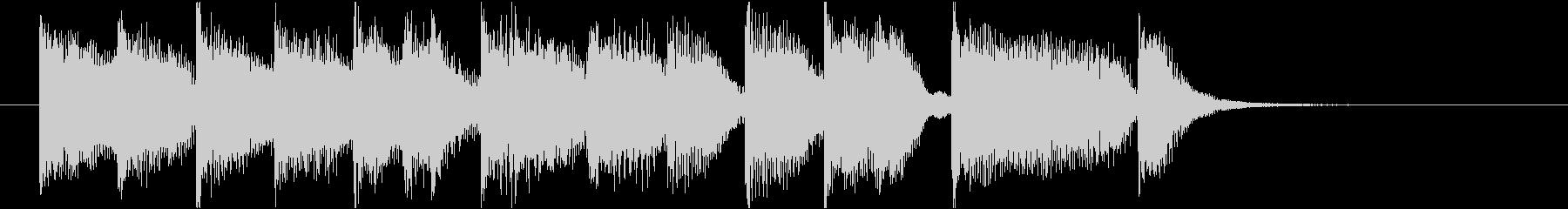 コミカルなピアノジングルの未再生の波形