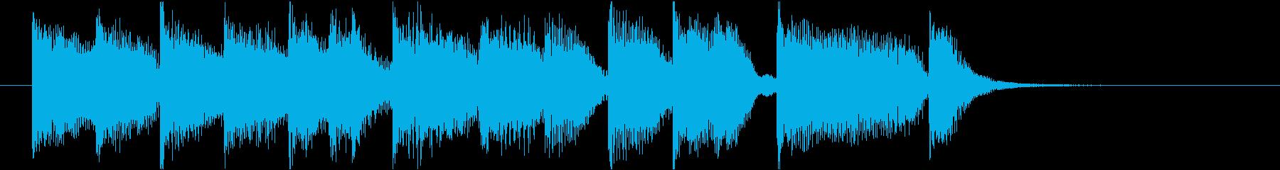 コミカルなピアノジングルの再生済みの波形