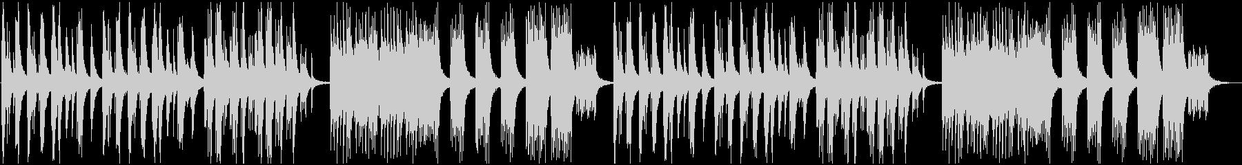 静かな和風ピアノソロの未再生の波形