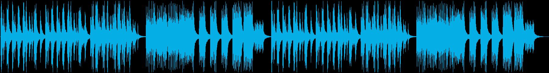 静かな和風ピアノソロの再生済みの波形