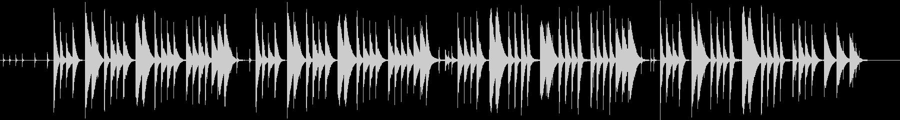 とぼけた感じののんびりした曲の未再生の波形