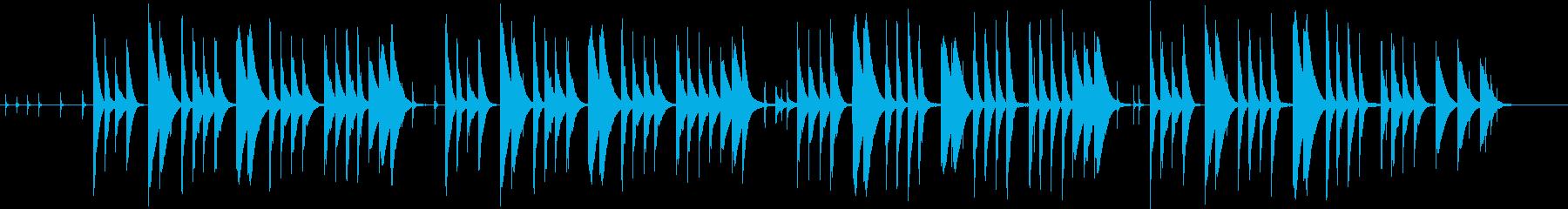 とぼけた感じののんびりした曲の再生済みの波形