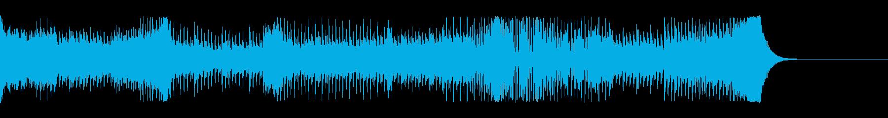 疾走感あるダンスミュージックの再生済みの波形