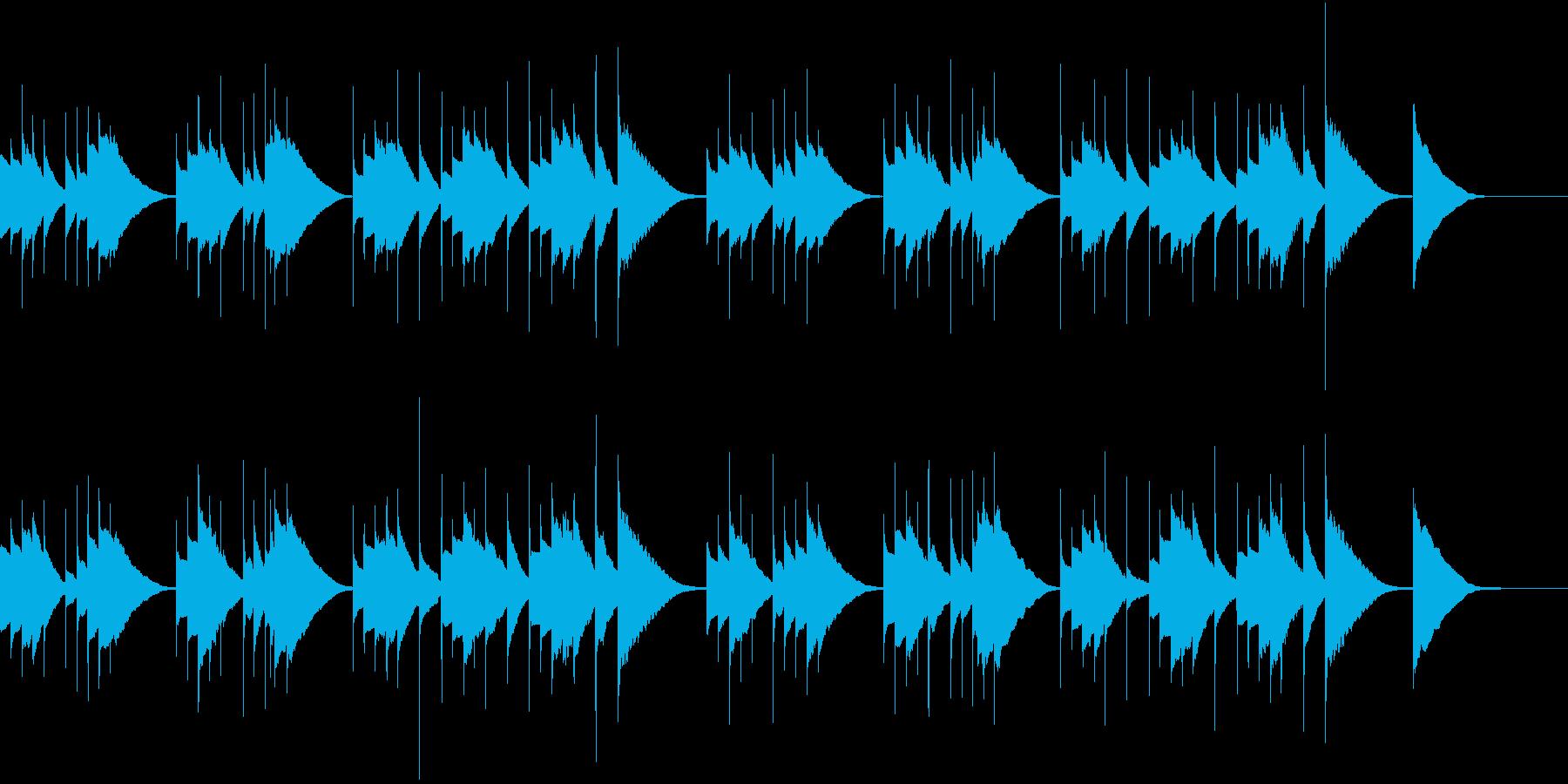 オルゴールを使ったとても悲しい雰囲気の曲の再生済みの波形