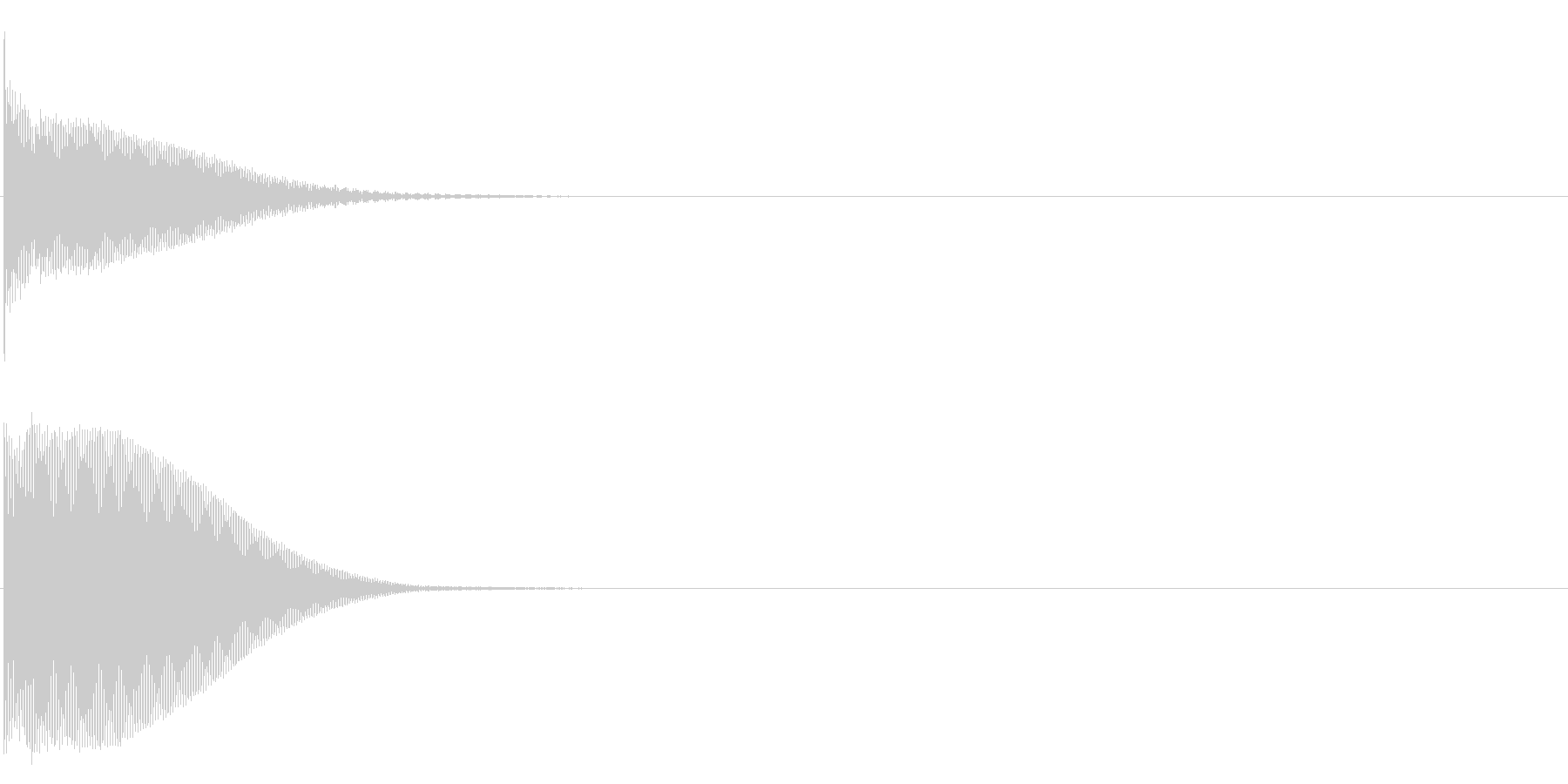 グロッケン系 ボタン音2(複)の未再生の波形