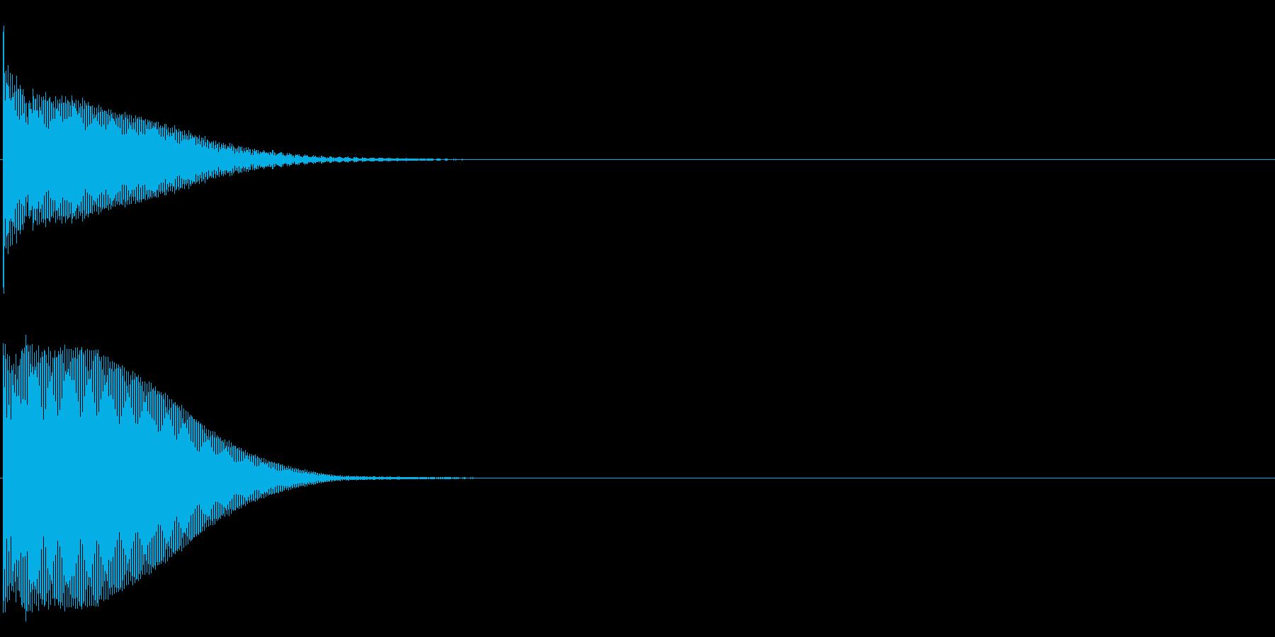 グロッケン系 ボタン音2(複)の再生済みの波形
