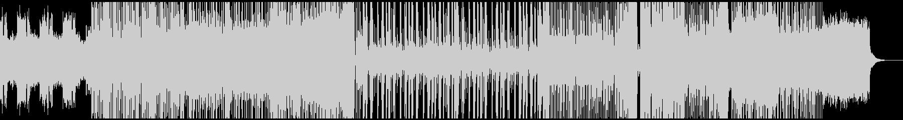 騒がしめなBGMの未再生の波形