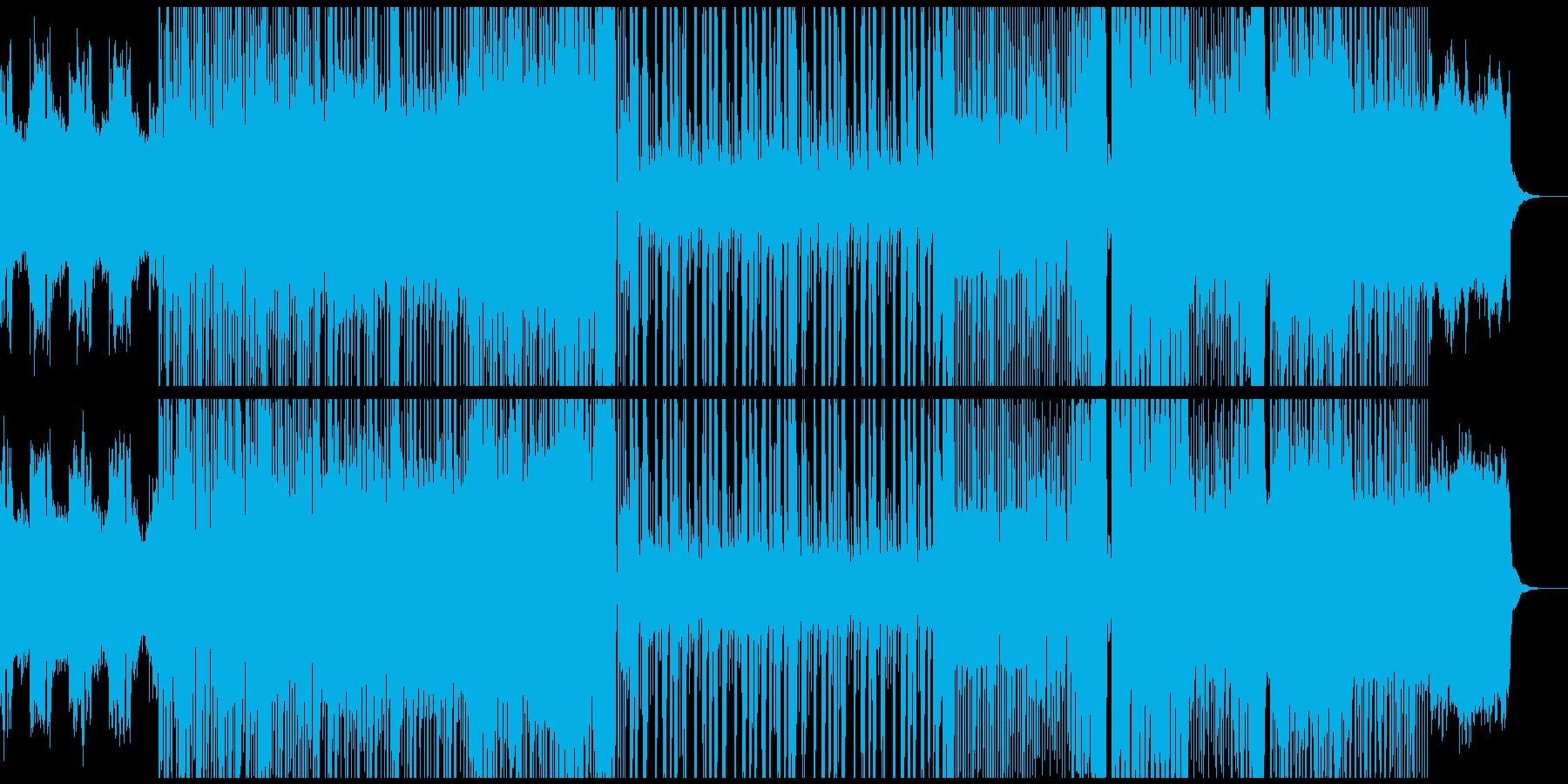 騒がしめなdubstepの再生済みの波形