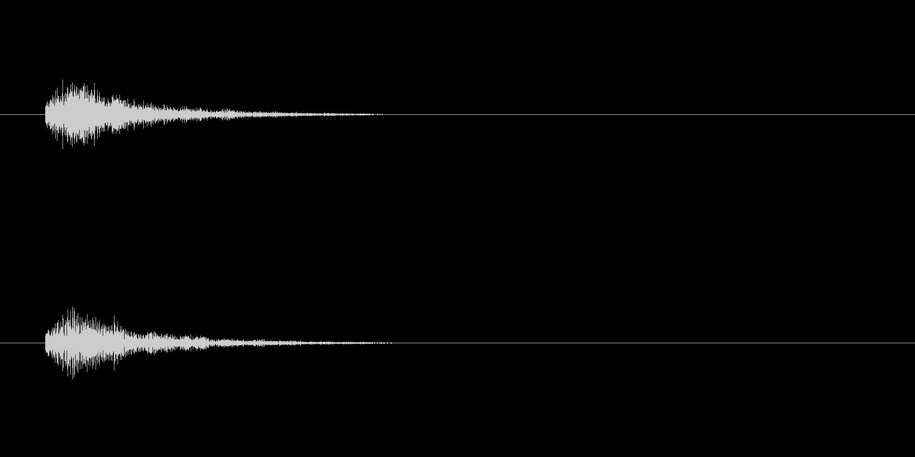 テロップの音・決定音・トュルルーンの未再生の波形