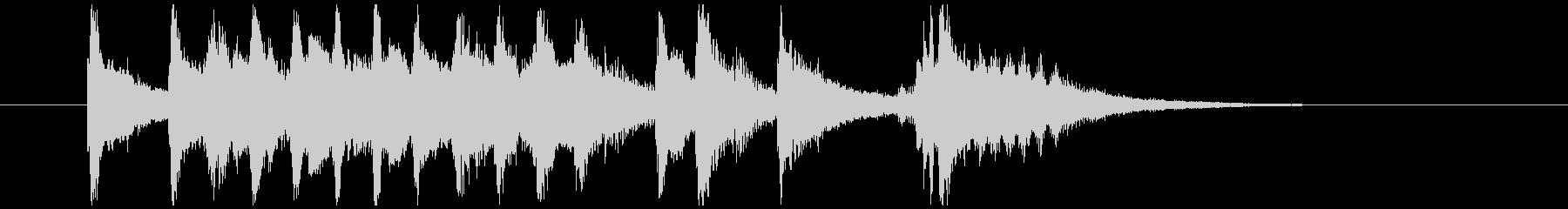 三味線、琴を使用した和風ジングルの未再生の波形