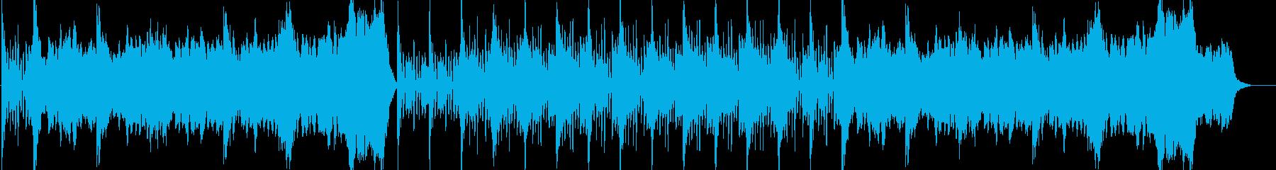 緊張感のある戦闘・アドベンチャー音楽の再生済みの波形
