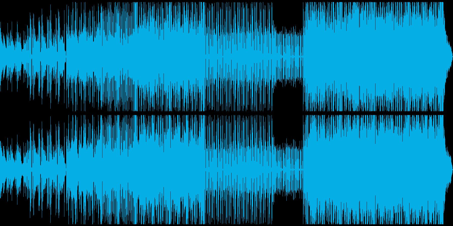 自然界をイメージしたBGMの再生済みの波形