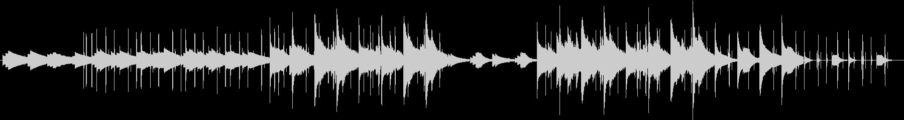 同じフレーズが繰り返される切ない曲の未再生の波形