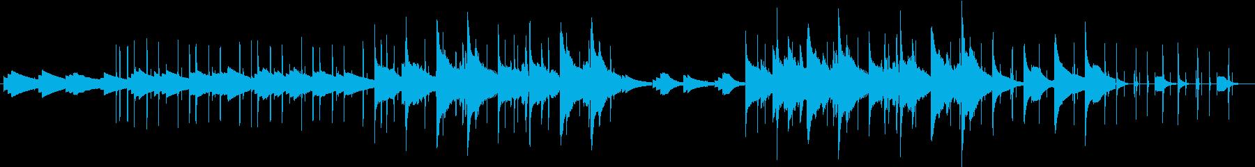 同じフレーズが繰り返される切ない曲の再生済みの波形