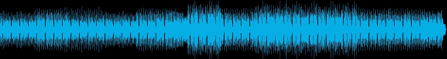 不思議な感じの曲の再生済みの波形