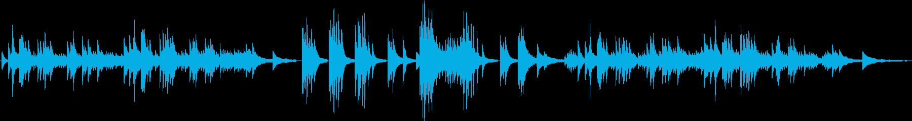 切ない雰囲気の静かなピアノソロの再生済みの波形