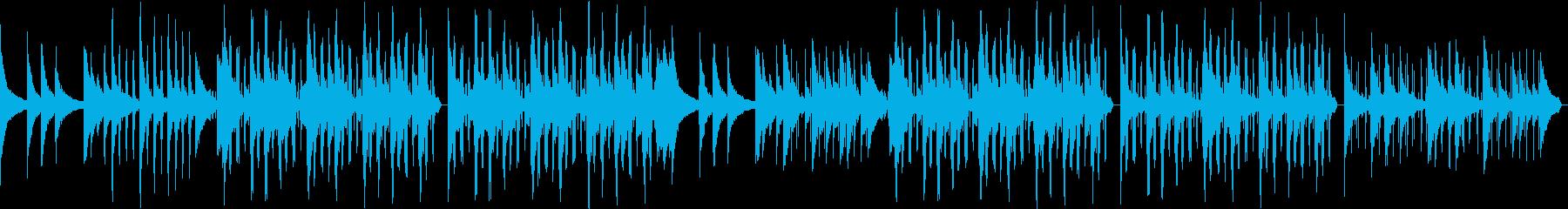 お洒落でどこか寂しさのあるピアノサウンドの再生済みの波形