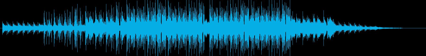 リラックスしたBGMの再生済みの波形