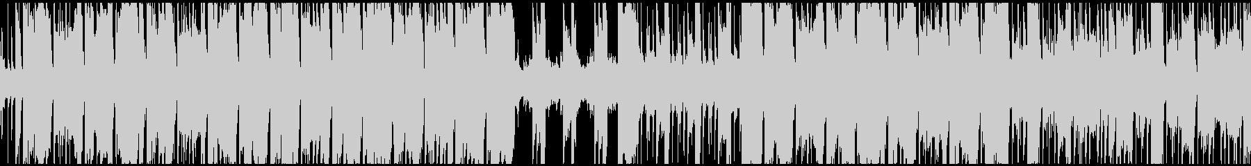 ファンキーなギターリフ、ループ仕様の未再生の波形
