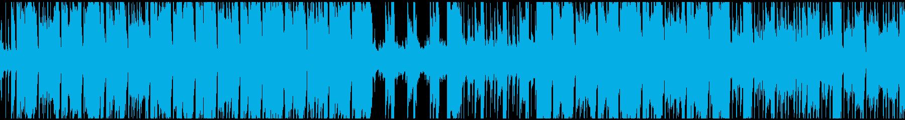 ファンキーなギターリフ、ループ仕様の再生済みの波形