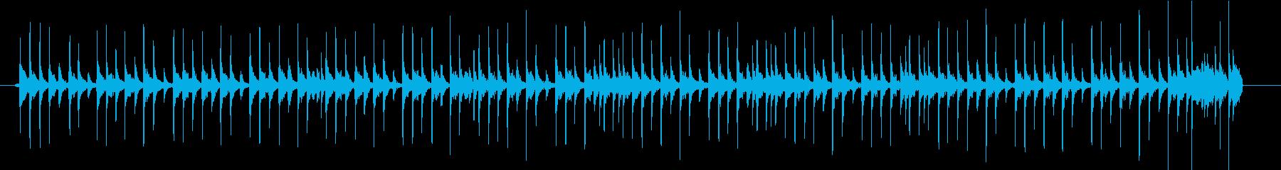 Lo-Fi drumloopドラムループの再生済みの波形