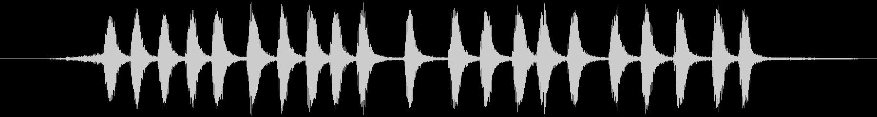 グリーンジェイ:呼び出し、鳥の未再生の波形