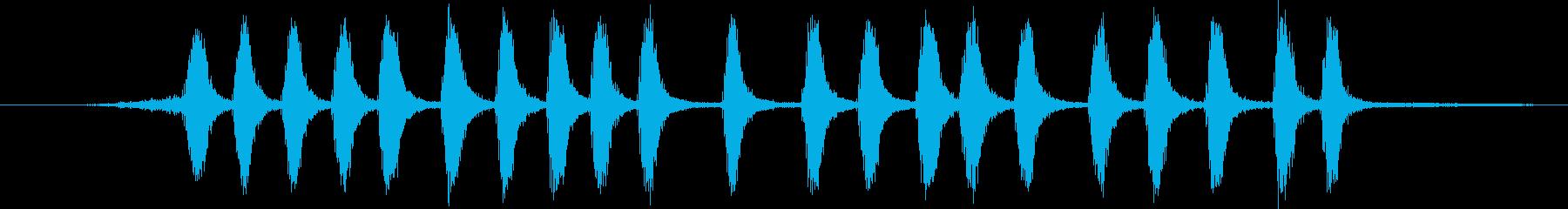 グリーンジェイ:呼び出し、鳥の再生済みの波形